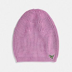 Coach REXY merino wool hat beanie rose pink $95